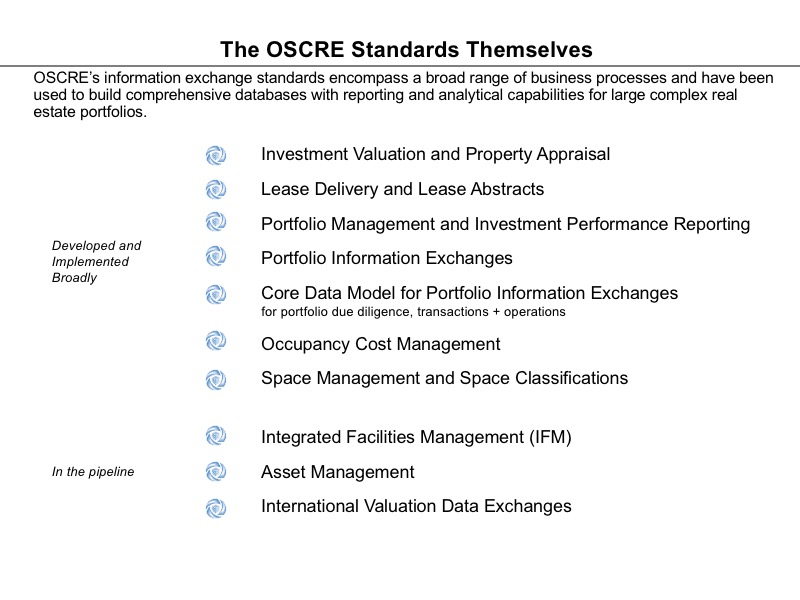 Getting to Know OSCRE